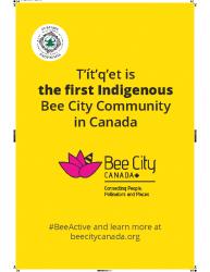 Bee City Poster 24 X 36 Yellow Web