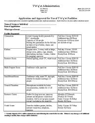 Titqet Facilities Rental Application