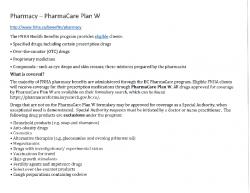 Pharmacy – PharmaCare Plan W_07_2019