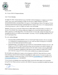 Council Letter Updated State of Emergency July 27 2020 and updated restart plan